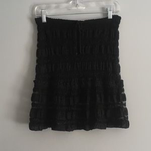 Guess jeans lace mini skirt lined with tie
